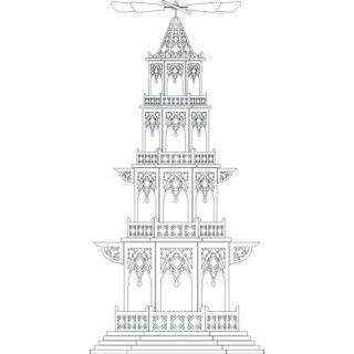 Laubsagevorlagen Pyramide Weihnachtspyramiden