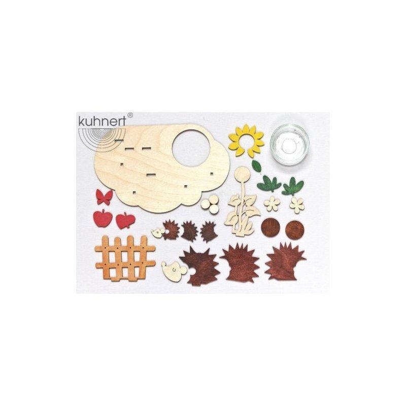 Kuhnert bastelset lichterhalter herbst 16 x 10 x 9cm for Herbst bastelset