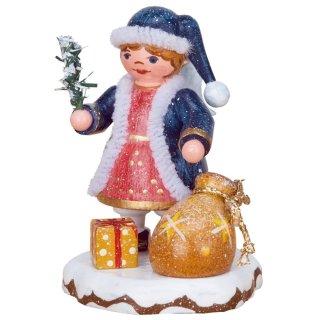 Erzgebirge Hubrig Volkskunst Wiki Winterkinder Danke lieber Weihnachtsmann 9 cm